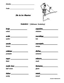 Día de los Muertos / Day of the Dead - Vocabulario - Halloween