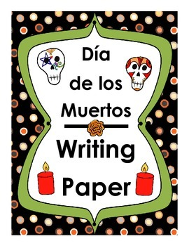 Día de los Muertos Writing Paper FREEBIE