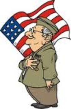 Día de los Veteranos : Spanish article with comp. questions and word search