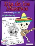 Día de los muertos Original Spanish Song & Reading Activities {Day of the Dead}