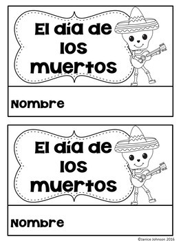 Día de los muertos Spanish BUNDLE {Day of the Dead} Reader Song Activities Craft