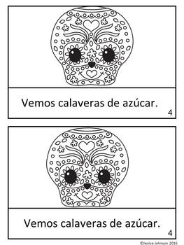 Día de los muertos Spanish Reader & Necklace Craftivity {Day of the Dead}