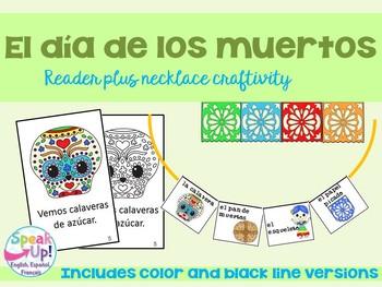 Día de los muertos Spanish Reader & Necklace Craftivity {D