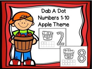 Dab A Dot Numbers 1-10 Apple Theme