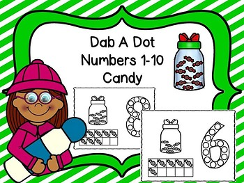 Dab A Dot Numbers 1-10 Candy Jar