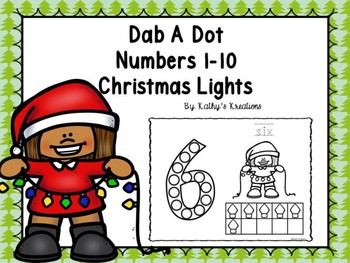 Dab A Dot Numbers 1-10 Christmas Lights