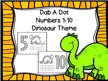 Dab A Dot Numbers 1-10 Dinosaur Theme