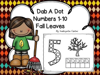 Dab A Dot Numbers 1-10 Fall Leaves