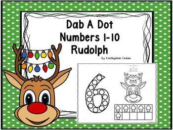 Dab A Dot Numbers 1-10 Rudolph