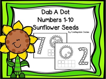 Dab A Dot Numbers 1-10 Sunflower Seeds