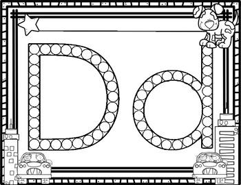 Q-Tip Letter Painting