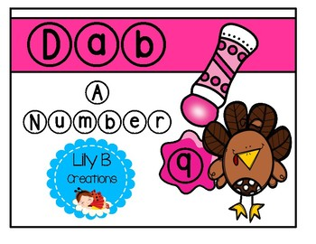 Dab A Number - Turkey Theme