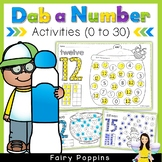 Dab a Number Worksheets (0 to 30)