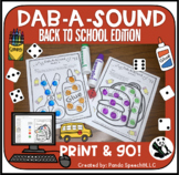 Dab-A-Sound Back to School Edition: Speech Therapy pages f