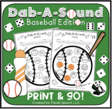 Dab-A-Sound Baseball Edition: No Prep Speech Therapy Pages