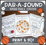 Dab-A-Sound Basketball Edition: No Prep Speech Therapy + Google Slides
