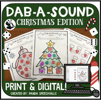 Dab-A-Sound Christmas Edition: No Prep Articulation