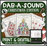Dab-A-Sound Christmas Edition: No Prep Articulation + Google Slides Options