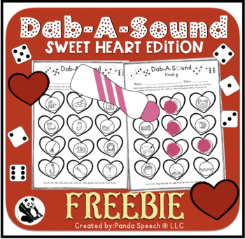 Dab-A-Sound FREEBIE Sweetheart Edition-Common Phonemes