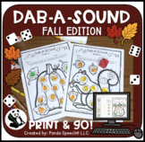 Dab-A-Sound Fall Edition: Speech therapy  (+ Distance Lear