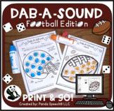 Dab-A-Sound Football Edition: No Prep Speech Therapy + Google Slides Option