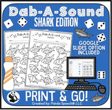 Dab-A-Sound Shark Edition: Speech Therapy pages for Common