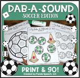 Dab-A-Sound Soccer Edition: No Prep Speech Therapy  + Google Slides Options