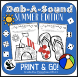 Dab-A-Sound Summer Edition: No Prep Speech Therapy pages for Articulation
