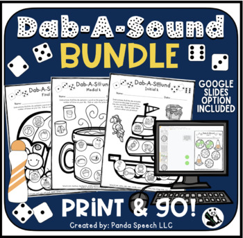 Dab-A-Sound Theme BUNDLE Articulation Speech Therapy