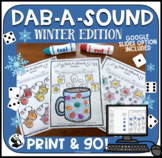 Dab-A-Sound Winter Edition: Articulation pages for Speech Therapy (+ no print)