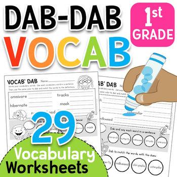 Dab-Dab Vocab!!  First Grade Vocabulary Worksheets