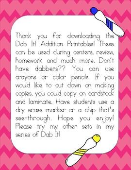 Dab It Addition