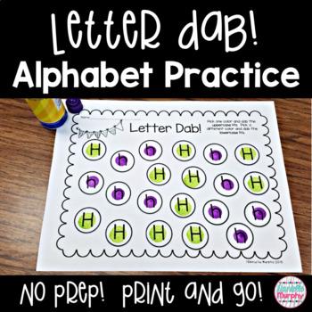 No Prep Alphabet Practice Letter Dab