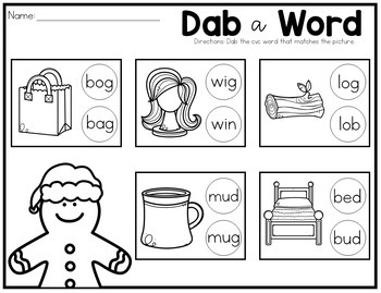Dab It No Prep Printables for the Year