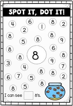 Dab It - Number Recognition, 1:1 Correspondence