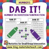 Dab It! - Number Recognition and Addition/Subtraction