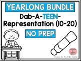 Dab It TEEN Number and Representation- YEAR LONG, NO PREP BUNDLE!