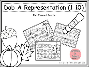 Dab It Number and Representations 1-10 Fall Theme