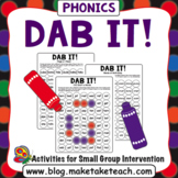 Dab It! Phonics Game Boards
