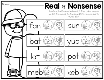 Dab It Real or Nonsense Words