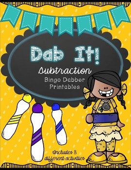 Dab It Subtraction