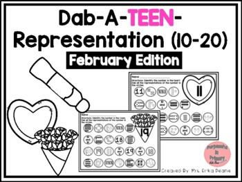 Dab It TEEN Number and Representation 10-20 February Theme