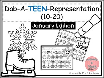 Dab It TEEN Number and Representation 10-20 January Theme