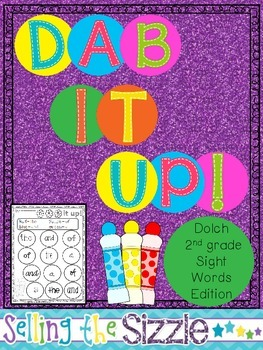 Dab It Up!  with the 2nd grade Dolch Word list!