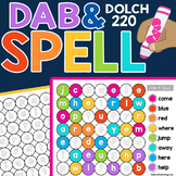 Dab & Spell Activity Worksheets: Dolch 220 Sight Words