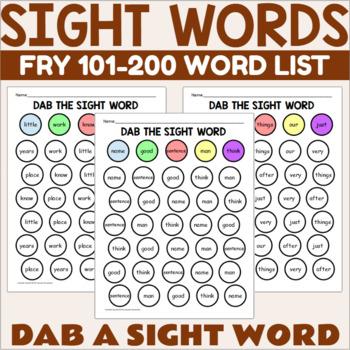 Dab a Fry Sight Word 101-200
