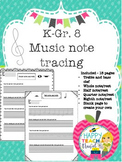 Dab a note and note tracing bundle