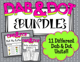 Dab and Dot Worksheets {BUNDLE} 11 Different Units!