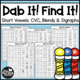 Dab and Find - Short Vowel Pages