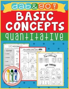 Dab and Go! Basic Concepts: Quantitative